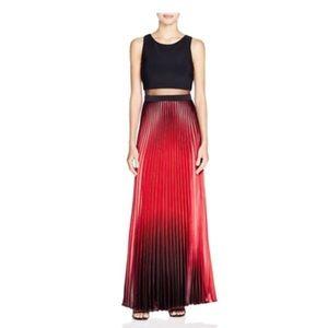 Evening pleated dress